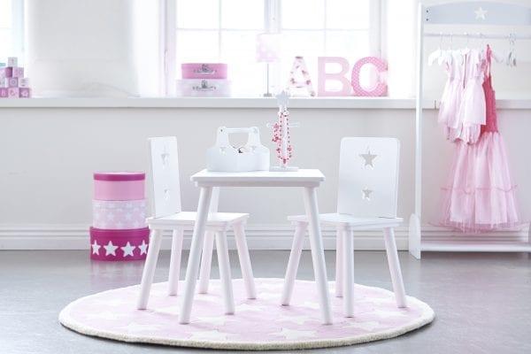 Barnmöbler Bord och Stol Kids Concept Vit