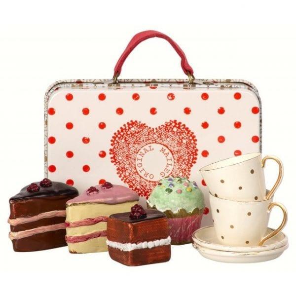 Maileg resväska med kakor och koppar