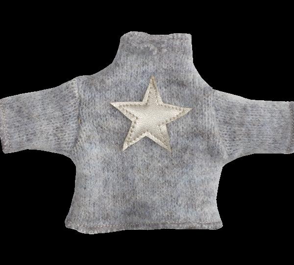 Grå Tröja med Silverstjärna Maileg Minidjur