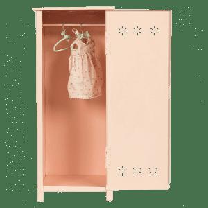 Garderob för kläder till dockor och Mailegfigurer, rosa