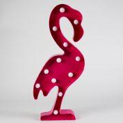 Rosa Flamingolampa LED, Large