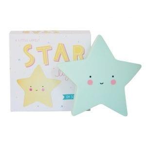 Nattlampa Lilla Stjärnan med Fina Pastellfärger