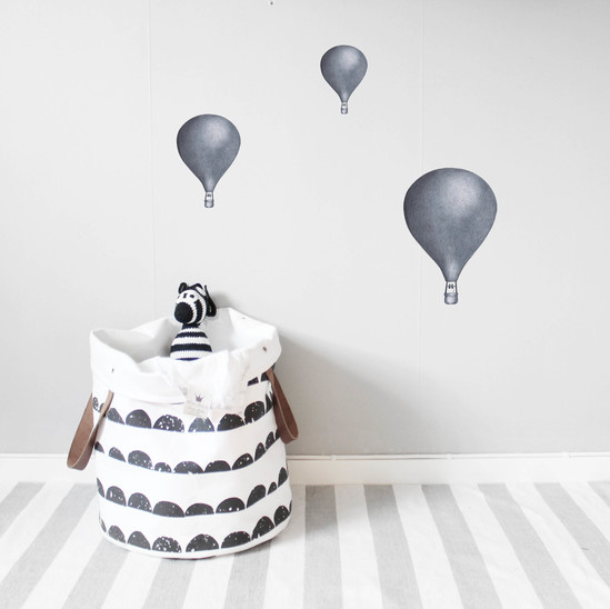 Luftballonger 3-pack Morkbla Lilla Stork
