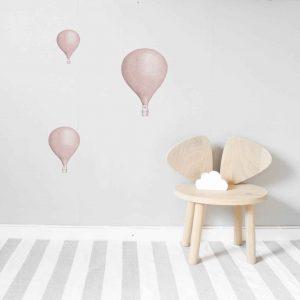 Luftballonger 3 -pack Rosa Lilla Stork
