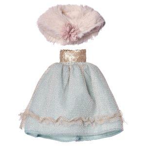 Prinsessklänning med cape Maileg Mini
