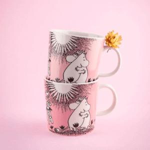 Arabia Muminmugg – Kärlek – Rosa Love lillastork.se