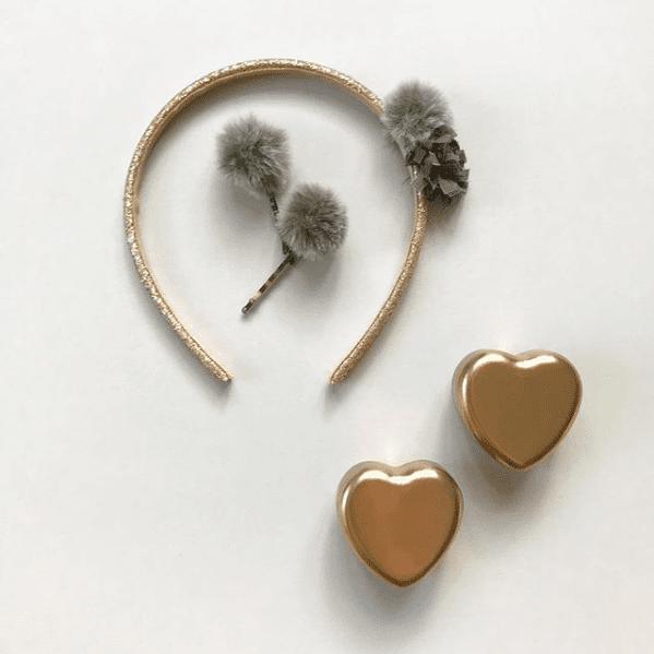 Hjärtformad Tandask i Guld Maileg