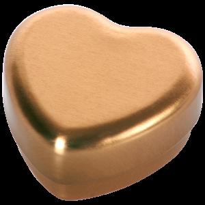 Hjärtformad Tandask i guld