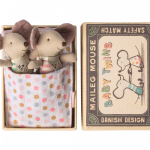 Möss Tvillingar i Ask - Baby - Maileg