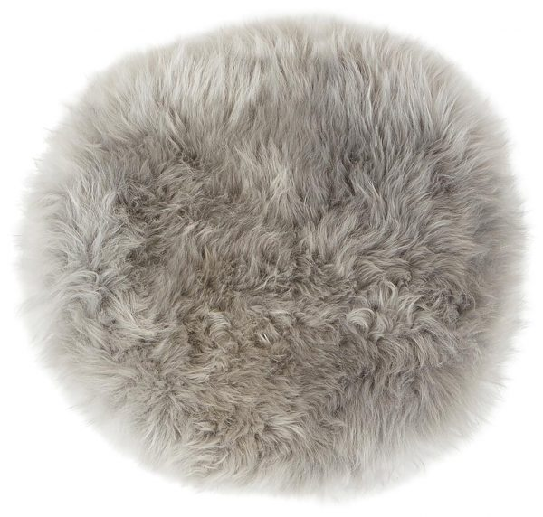 Sittdyna långhårig rund grå Shepherd Lilla Stork