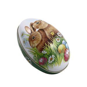 Påskägg i plåt med kaniner