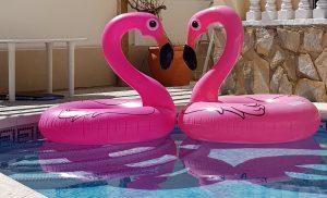 Stor uppblåsbar Flamingobadring