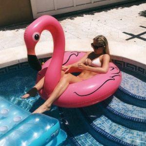Badring Stor Uppblåsbar Flamingo