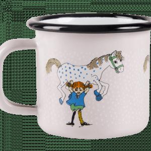 Pippi Emaljmugg - Pippi och Lilla Gubben, 1,5 dl