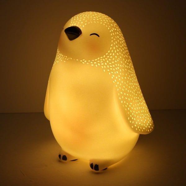 Minilampa Pingvin LED lillastork