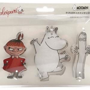 Mumin Pepparkaksformar, 3 st - Mumintrollet, Lilla My & Hattifnatt