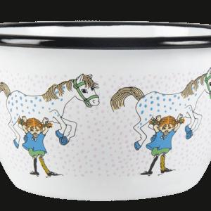 Pippi Emaljskål - Pippi och Lilla Gubben