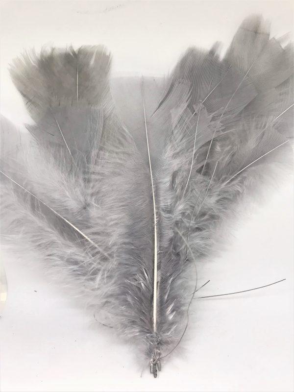 Påskfjadrar i fina färger - Grå Lilla Stork