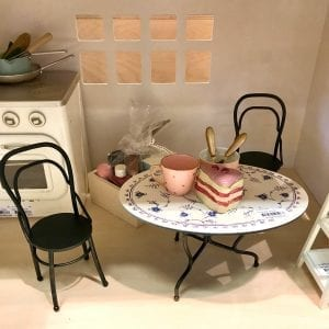 Vintage Matbord med Stolar Maileg Mini lillastork.se
