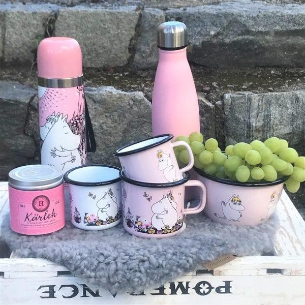 Mumin termos Love, Vattenflaska rosa, Haput lakrits och mumin