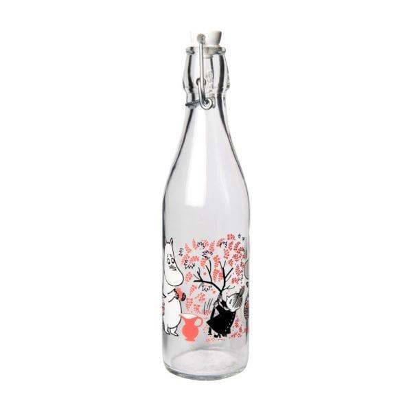 Mumin Glasflaska Mumin med Patentkork - Röda Bär