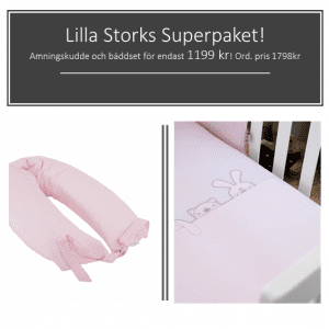Superpaket amningskudde och bäddset
