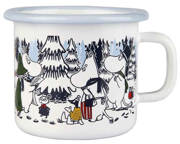 Mumin Emaljmugg Winter Forest 2,5 dl