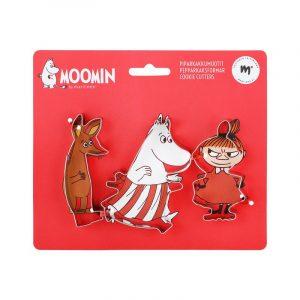 Mumin Pepparkaksformar, 3-pack Lilla My, Sniff och Muminmamma